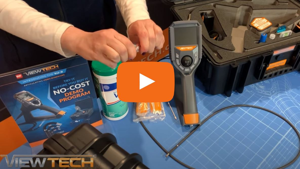 how to clean your ViewTech video borescope